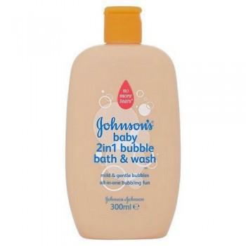 Johnson's Baby 2 In 1 Bubble Bath+Wash 300Ml