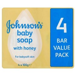 Johnsons Baby Soap 4 Bar Pack