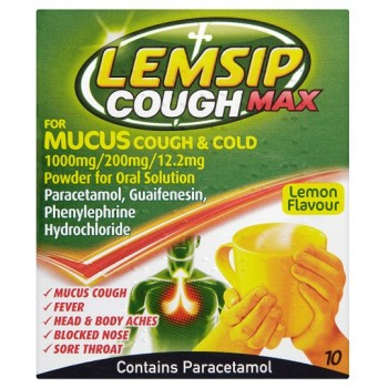 Lemsip Max Cough And Cold Mucus Sachets X 10
