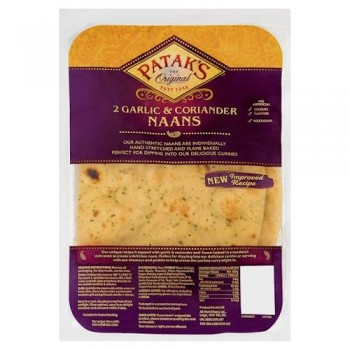 Pataks Garlic And Coriander Naan Bread 2'