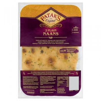 Pataks Plain Naan Bread 2'