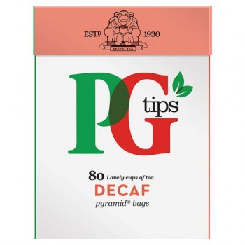 Pg Tips Decaffeinated 80S Pyramid Teabags 250G