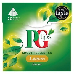 Pg Tips Lemon Green Tea 20S Teabags 28G
