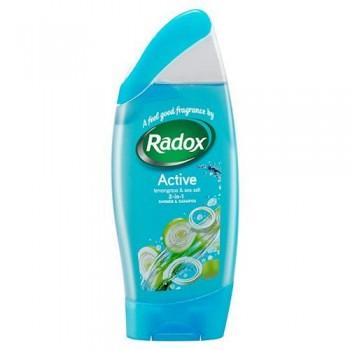 Radox Shower Gel Shampoo Active 250Ml