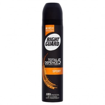Right Guard Total Defence 5 Sport Antiperspirant Deodorant 250Ml