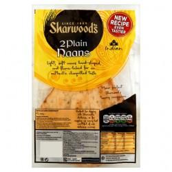 Sharwoods 2 Large Plain Naan Bread 260G