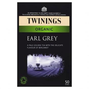 Twinings Organic Earl Grey 50 Tea Bags 125G