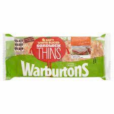 Warburtons Sandwich Thins 6 Pack