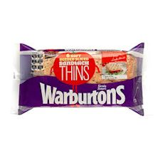 Warburtons Seeded Sandwich Thins 6 Pack