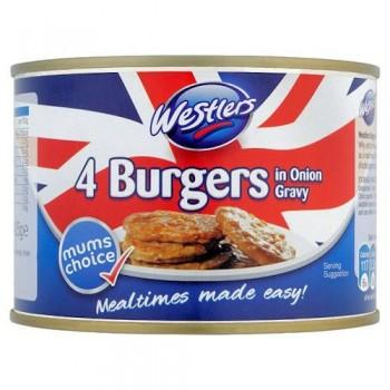Westlers Burgers In Onion Gravy 4 Pack