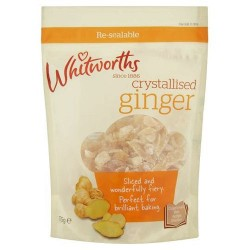 Whitworths Crystalised Ginger 175G
