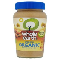 Whole Earth Organic Smooth Peanut Butter340g