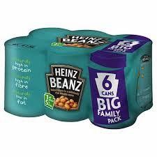 heinz beans 6 pack